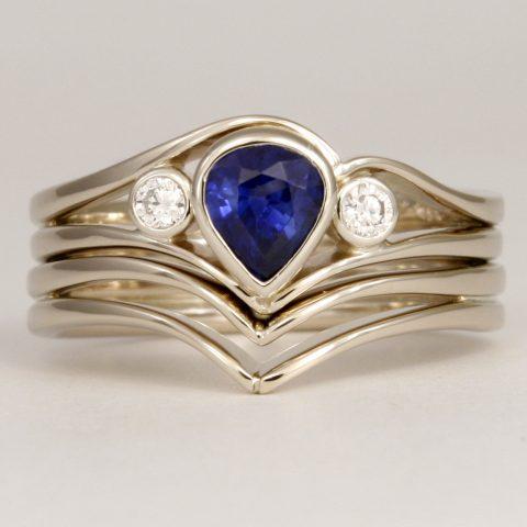 Sapphire Diam set 3 3195RS