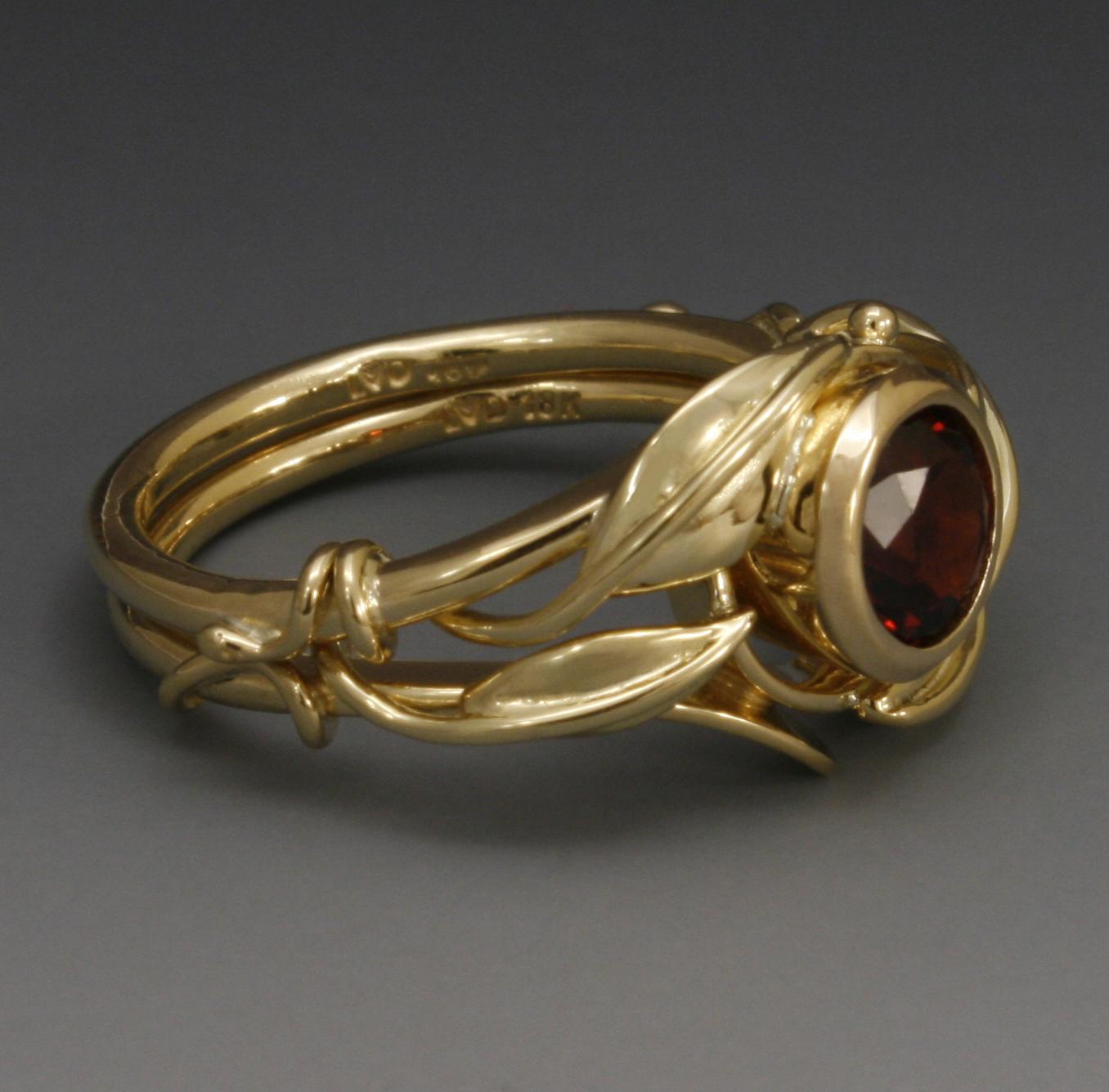 Antique Pyrope Ring