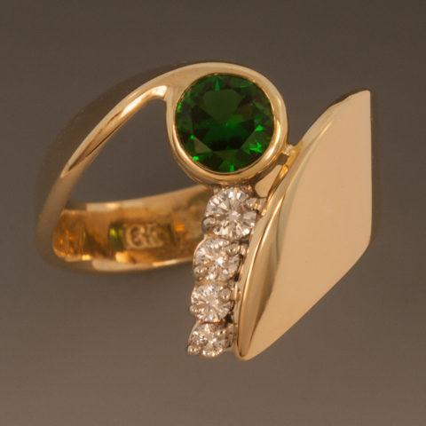 Chrome Tourmaline Diam Ring 1w 030094
