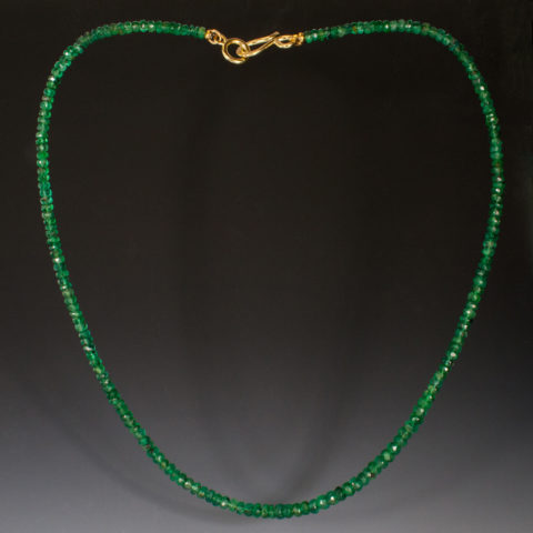 Emerald Faceted Rondelles 1W 270225