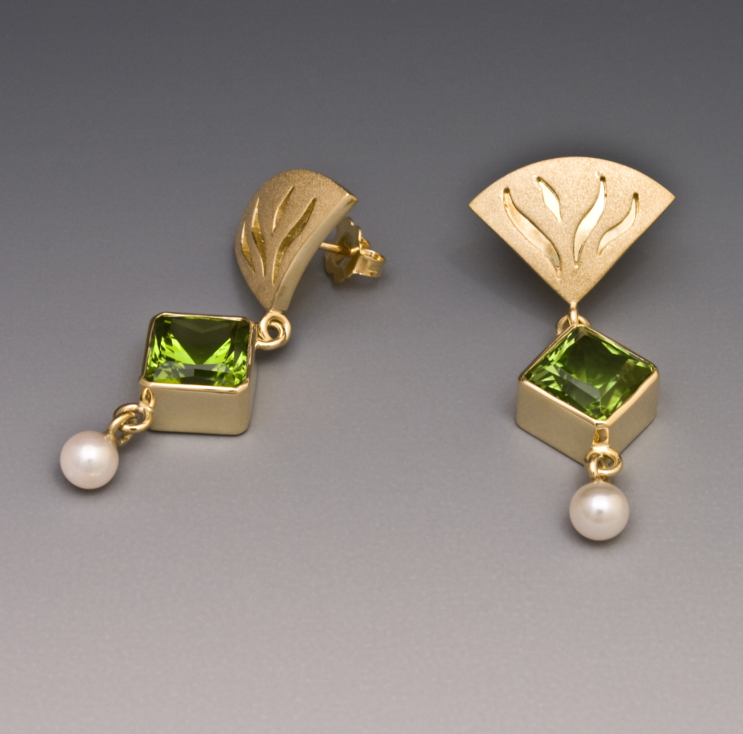 drop product new gold white earrings and cluster diamond peridot