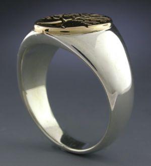 sterling 14k men s berkshire tree of life ring