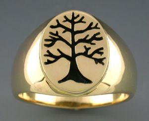 14k men s berkshire tree of life ring