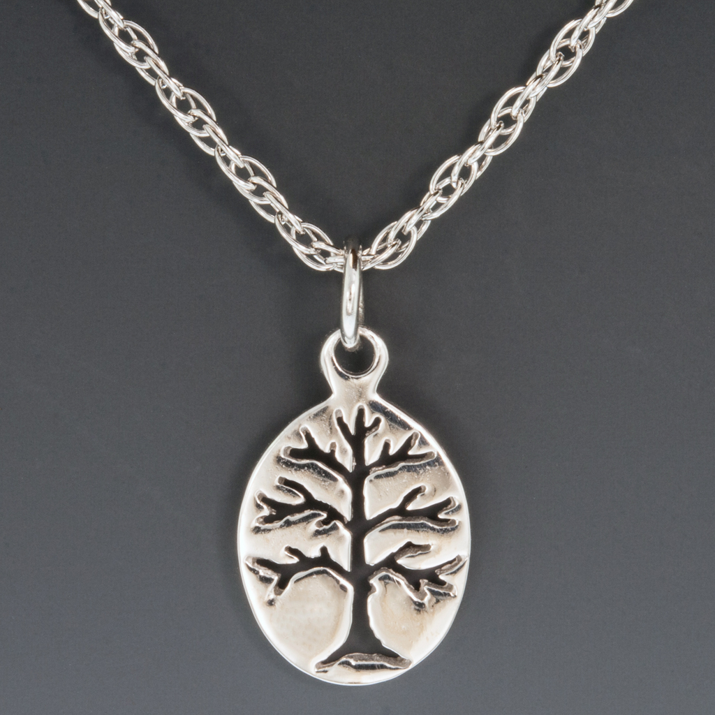 sterling oval berkshire tree of life pendant