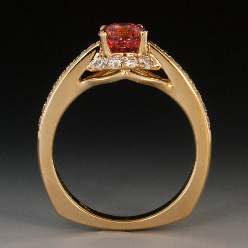 Garnet Ruby And Sapphire Ring
