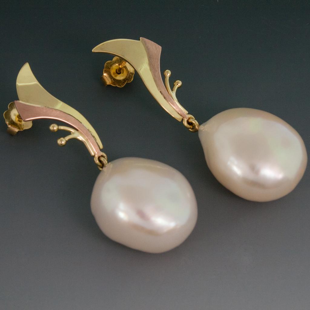 18kyp earrings wbaroque south sea pearl drops