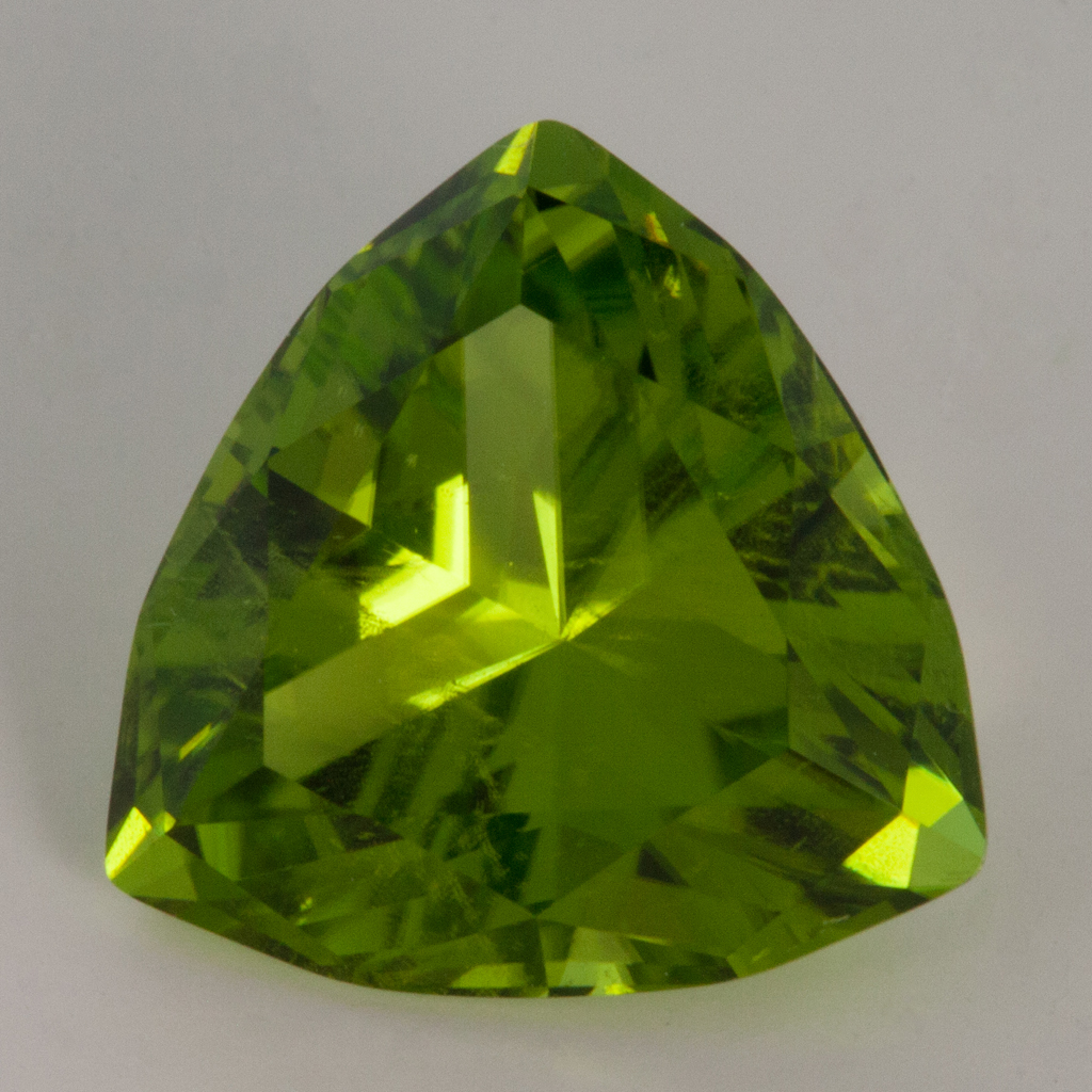 5 17 Carat Peridot Trillion Cut 11mm Pakistan