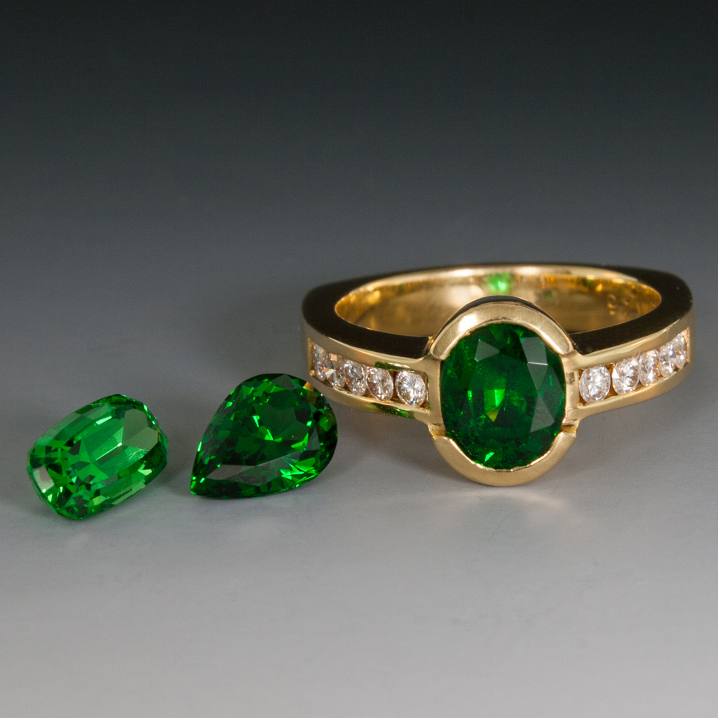contemporary garnet ring rings tsavorite diamond and