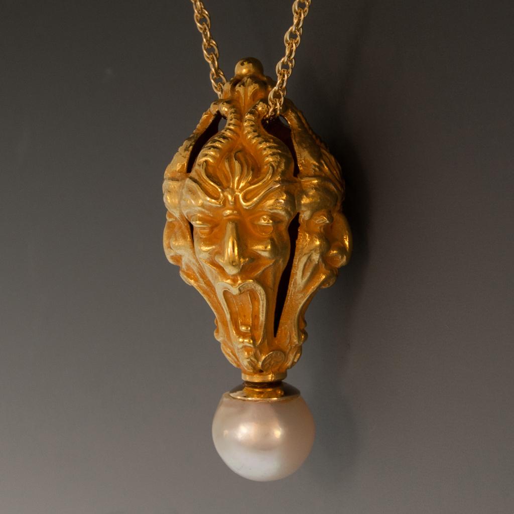 14k yg pendant w4 gargoyles freshwater baroque pearl 14k yg pendant w4 gargoyles aloadofball Gallery