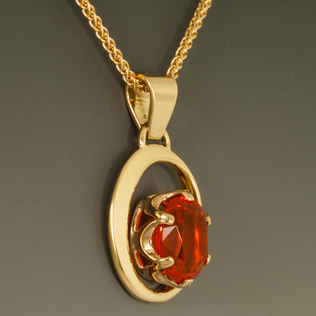 18ky gold hand forged pendant wmexican fire opal 18ky gold hand forged pendant wmexican fire opal aloadofball Gallery